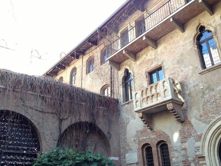 A dita varanda, onde Julieta apareceria