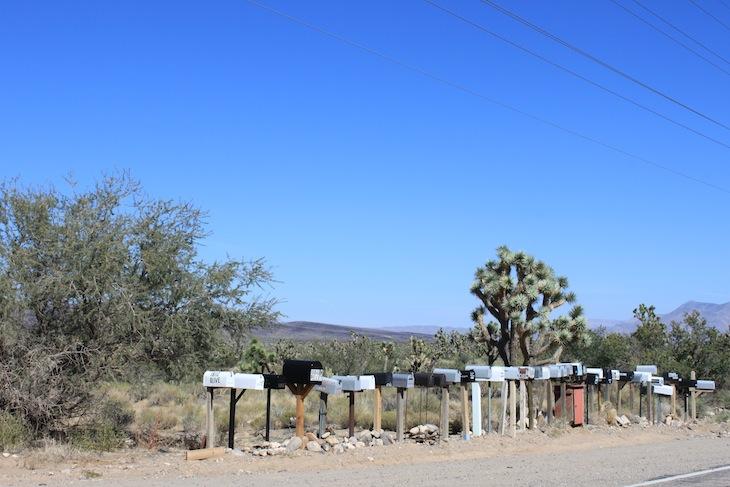 Caixas de correio na estrada