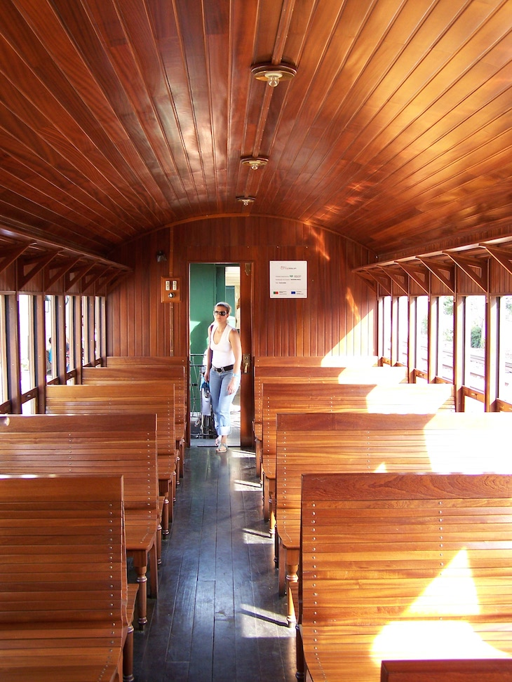 Carruagem do comboio histórico do Douro