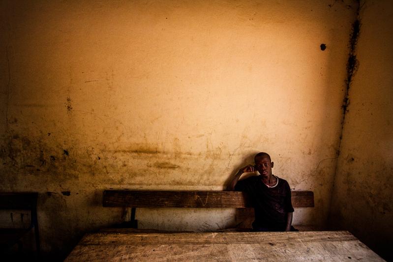 Numa escola de Dogon, povo que habita entre Mali e Burkina Faso