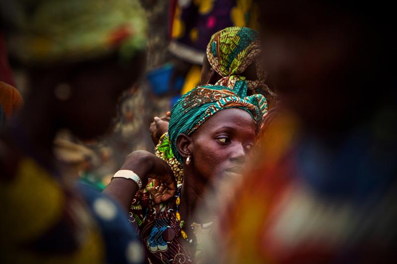 Mulher num mercado em Dogon