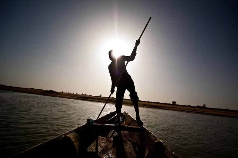 Na aldeia pescatória do rio Níger, que fica antes de Mopti