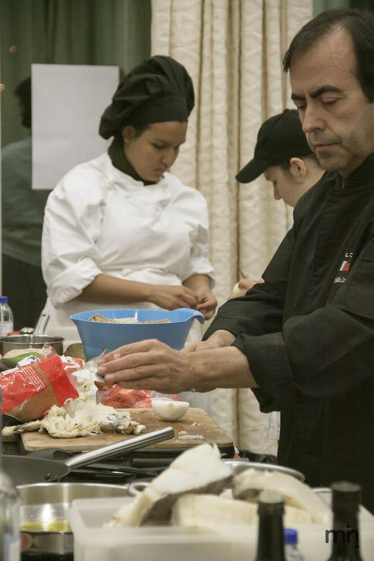 Receitas com bacalhau, do chef Hélio Loureiro, no evento Viaje Comigo