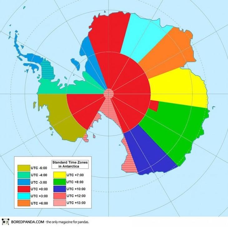 Fusos horários da Antártida