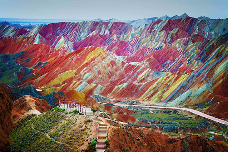 Parque Geológico Zhangye Danxia, na China
