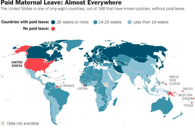 Período de Licença Maternidade nos países