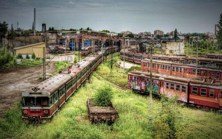 Cemitério de comboios, na Polónia