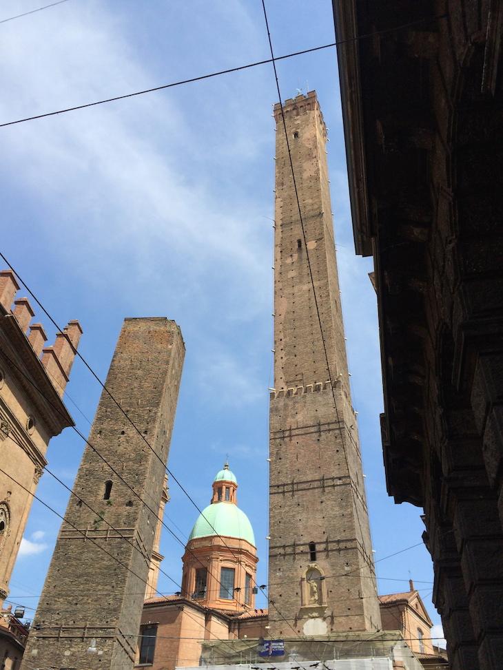 As duas torres de Bolonha