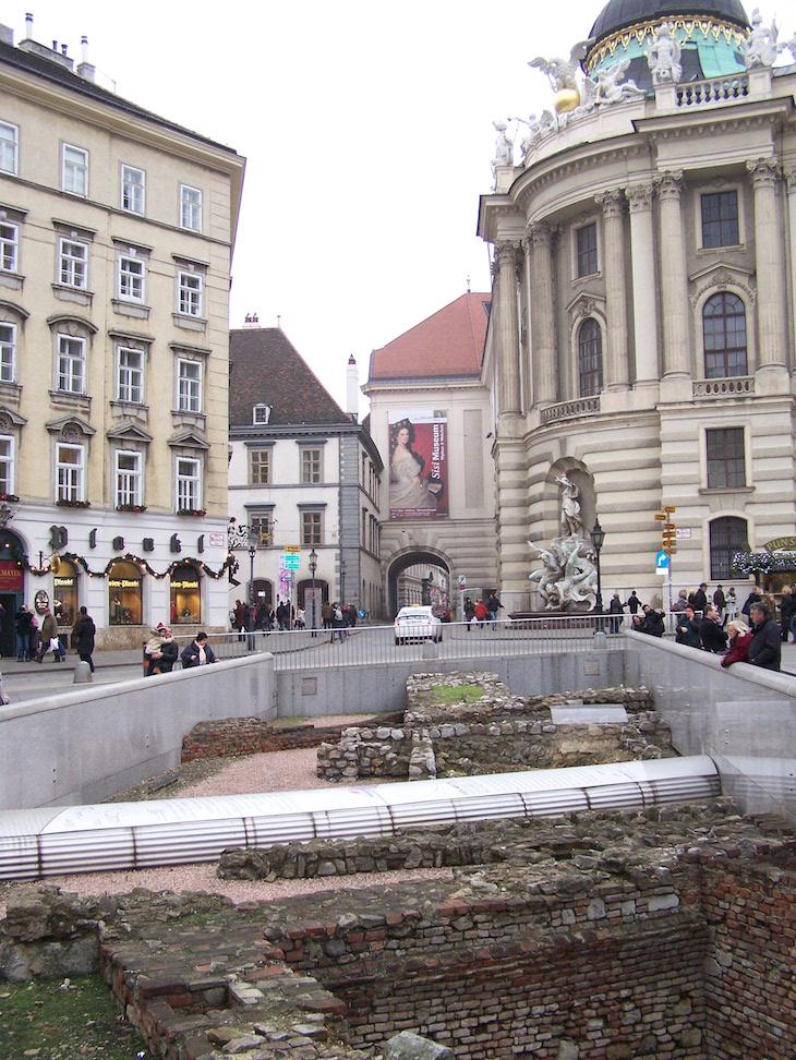 Vestígios arqueológicos em Viena