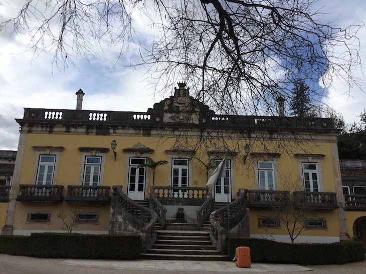Entrada da casa Quinta das Lágrimas,a Coimbra