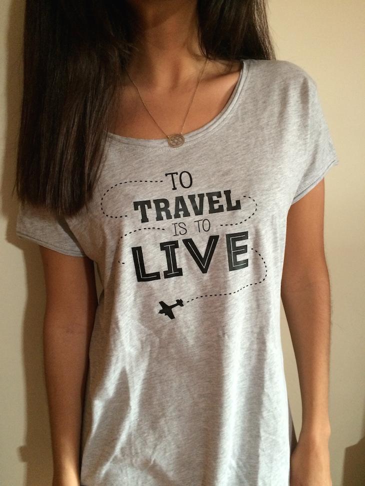 T-shirt cinza Viaje Comigo - brevemente disponível