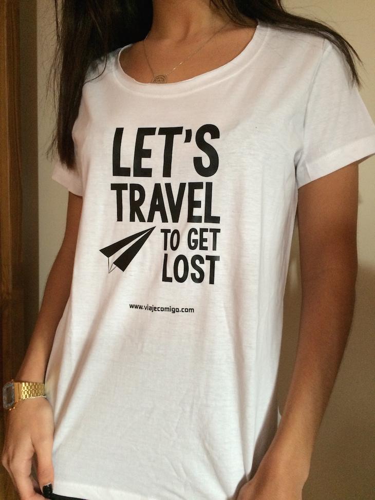 T-shirt branca Viaje Comigo - brevemente disponível