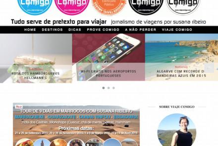 Novo site do Viaje Comigo - Jornalismo de Viagens de Susana Ribeiro