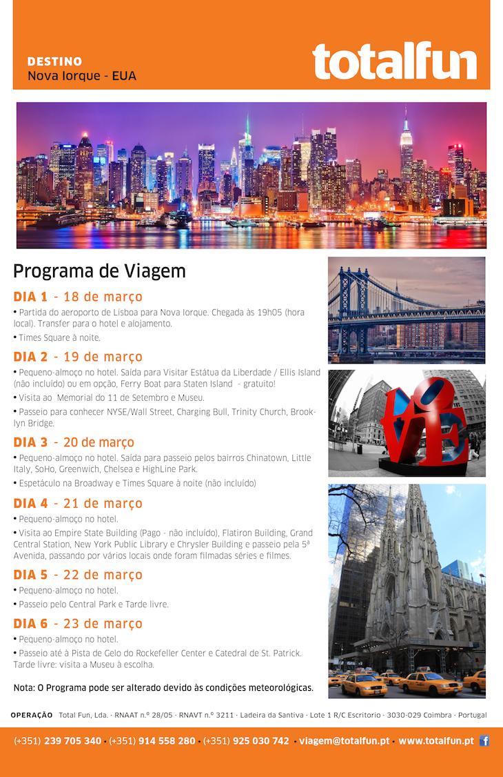 Viaje Comigo para Nova Iorque - 18 a 23 de março 2016