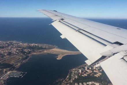 Vista aérea da foz do rio Douro, Porto © Viaje Comigo