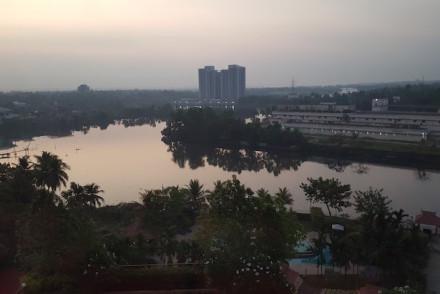 Amanhecer no hotel Crowne em Cochim, Kerala © Viaje Comigo
