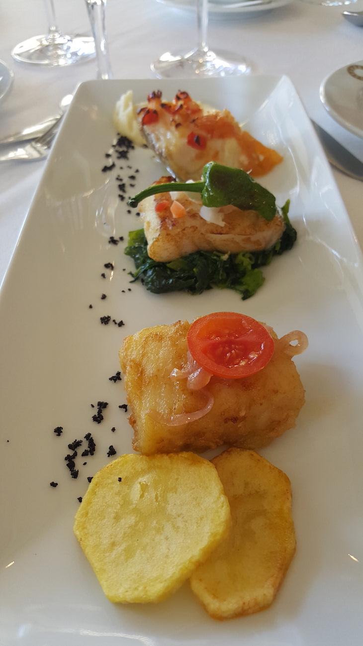 Trilogia de bacalhau: frito, grelhado e assado, no Hotel Solverde © Viaje Comigo