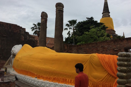 Buda reclinado de Wat Yai Chai Mongkhon, Ayutthaya, Tailândia © Viaje Comigo
