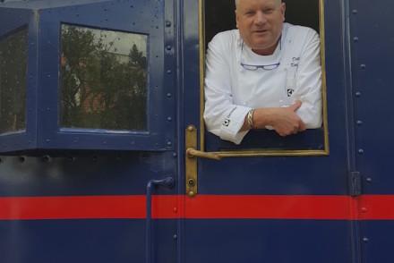 Chef Dieter Koschina do Vila Joya no comboio presidencial © Viaje Comigo