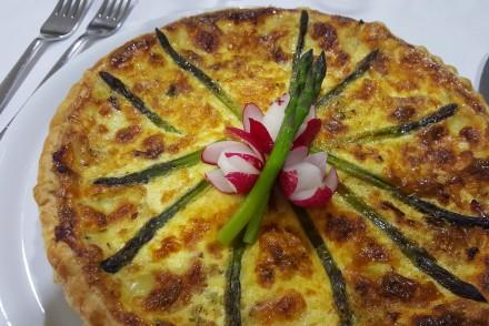 Quiche de espargos do Restaurante Hede, Felgueiras © Viaje Comigo
