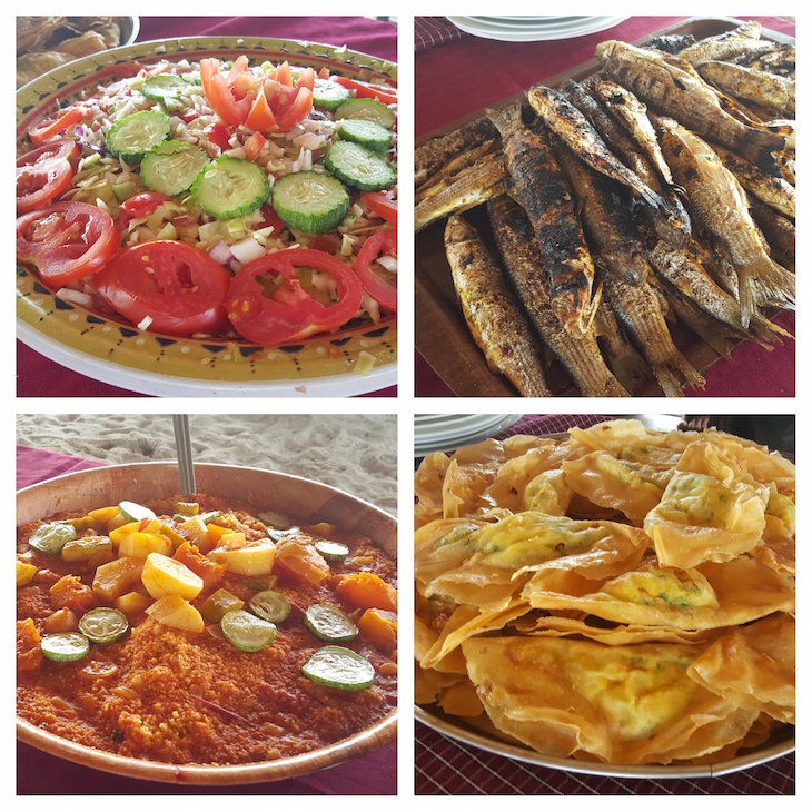 Almoço em Ras R'Mal - Ilha dos Flamingos, Djerba, Tunísia © Viaje Comigo
