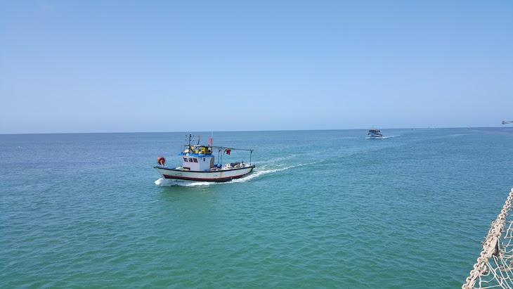 Barcos a virem da pesca : Ras R'Mal - Ilha dos Flamingos, Djerba, Tunísia © Viaje Comigo
