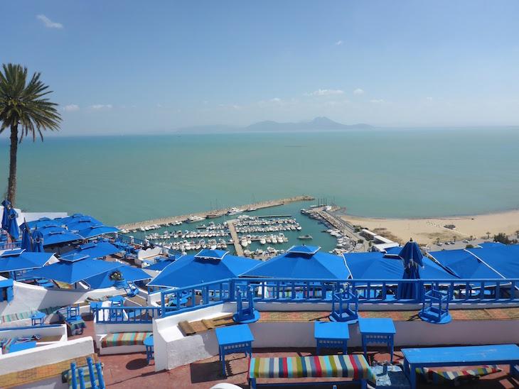 Esplanada do Café des Délices Sidi Bou Said Tunisia © Viaje Comigo