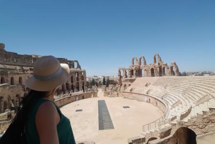 No Anfiteatro El Jem, Tunísia © Viaje Comigo
