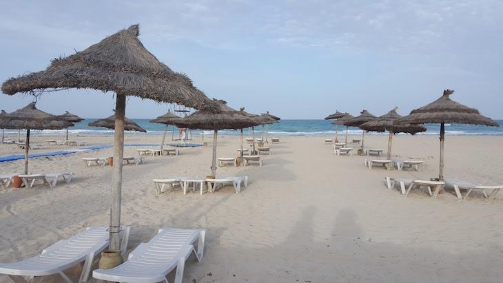 Fim de dia na Praia do Vincci Helios Beach © Viaje Comigo