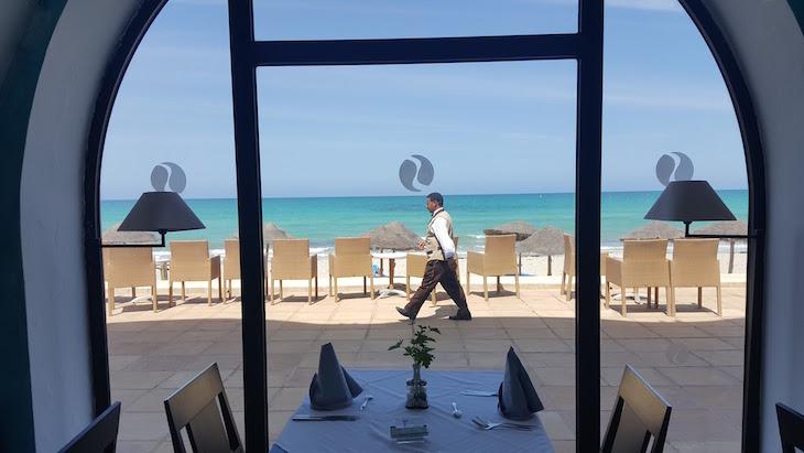 Vista do Buffet do Sentido Djerba Beach Tunisia © Viaje Comigo