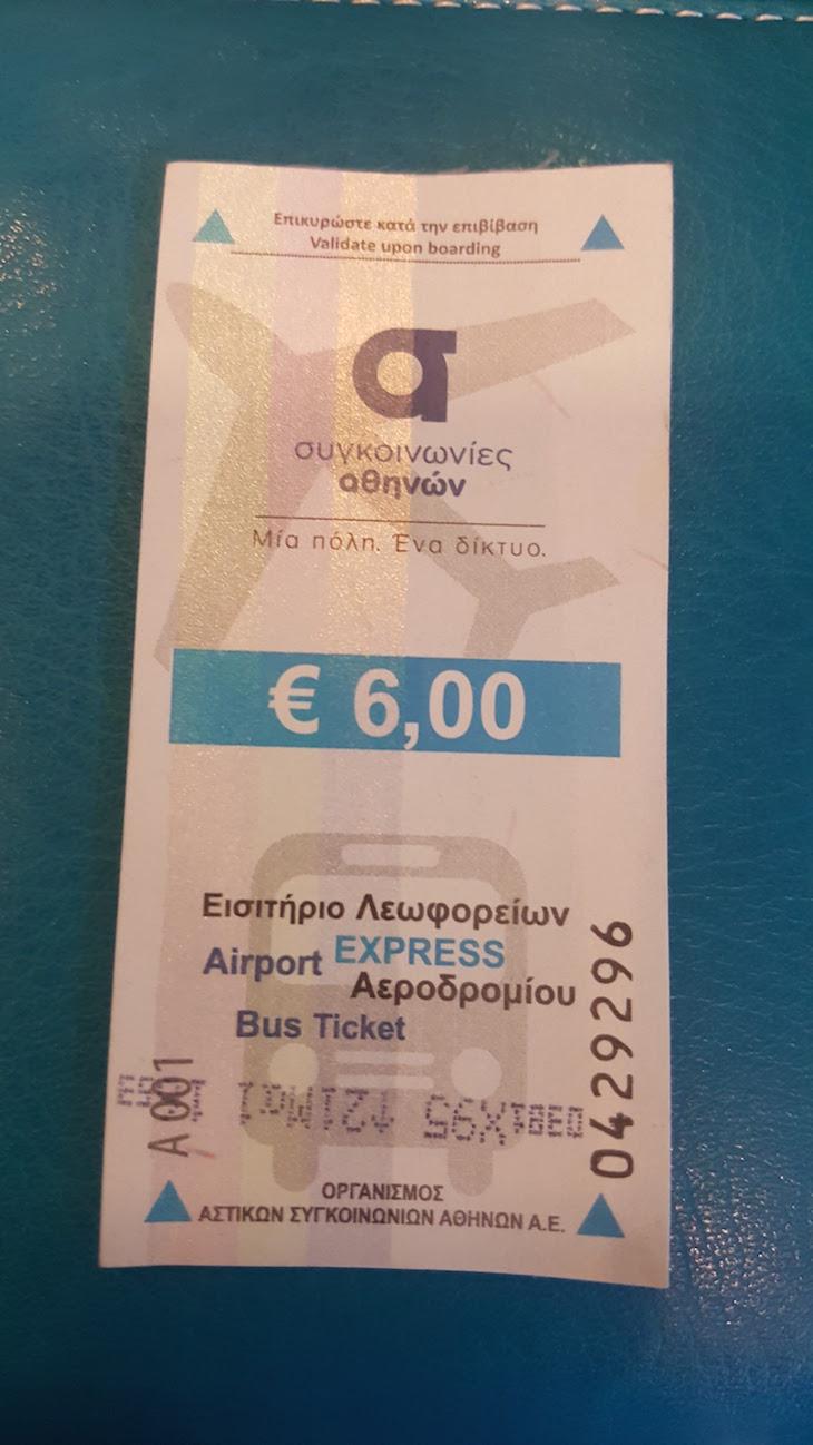 Bilhete autocarro aeroporto Atenas - Grécia © Viaje Comigo