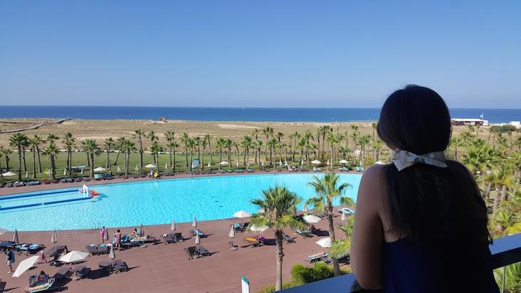 Vista da varanda do quarto no Vidamar Algarve © Viaje Comigo