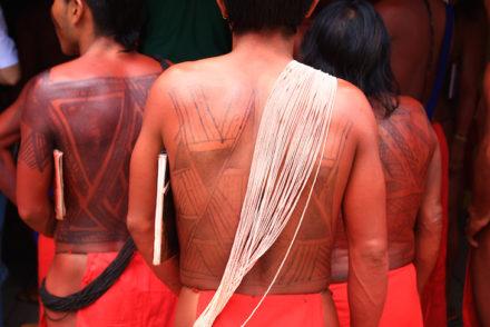 Arte Gráfica Kusiwa - Índios Wajapi. Crédito para Heitor Reali-Iphan