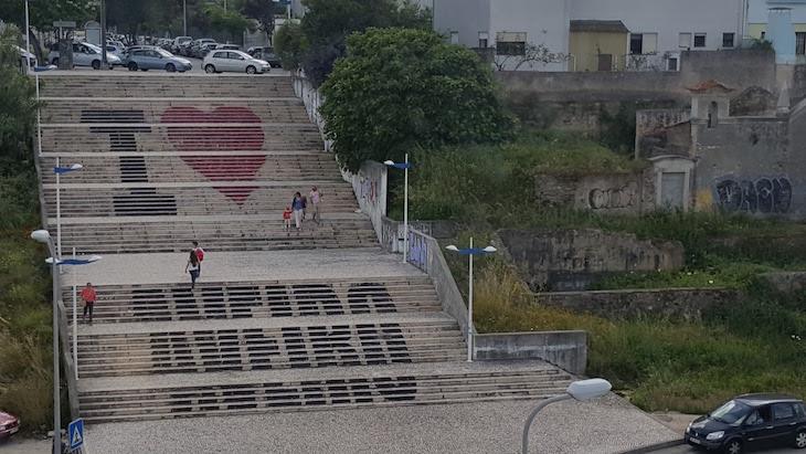 Escadas I Love Aveiro © Viaje Comigo