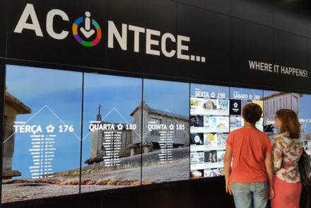 Quadro de eventos no Porto Welcome Center © Viaje Comigo