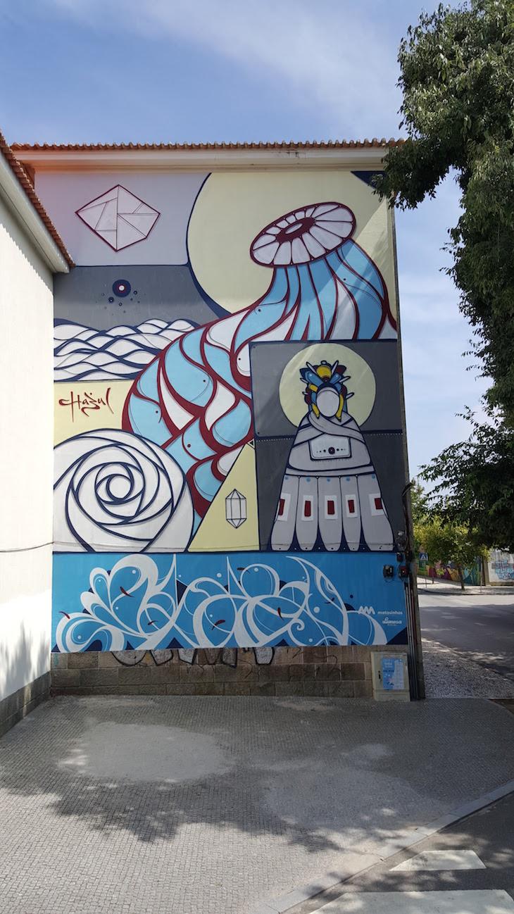 Obra de Hazul - Rota de Street Art de Matosinhos © Viaje Comigo
