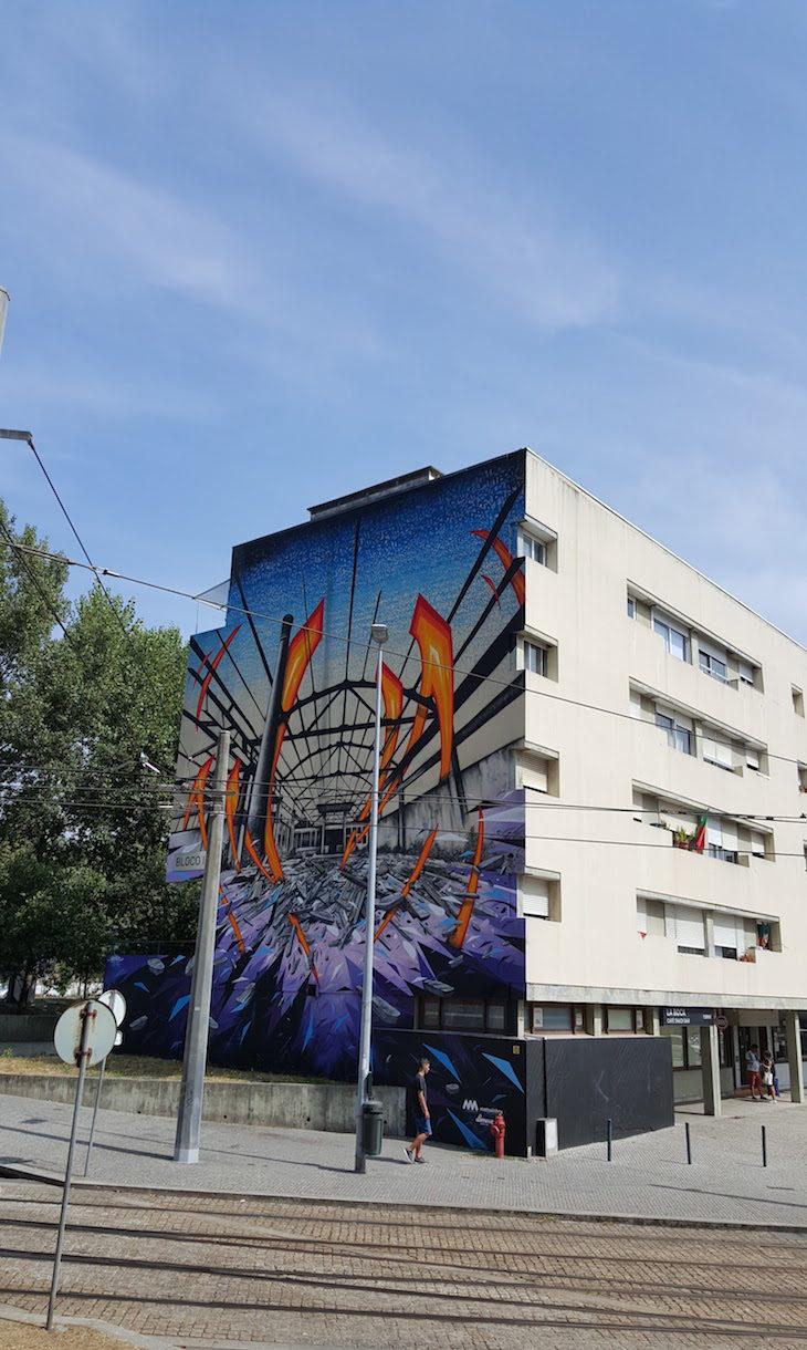 Obra de Katre - Rota de Street Art de Matosinhos © Viaje Comigo