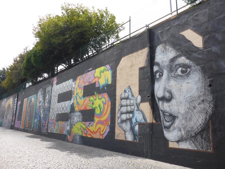 Mural da Lionesa - Rota de Street Art © Viaje Comigo