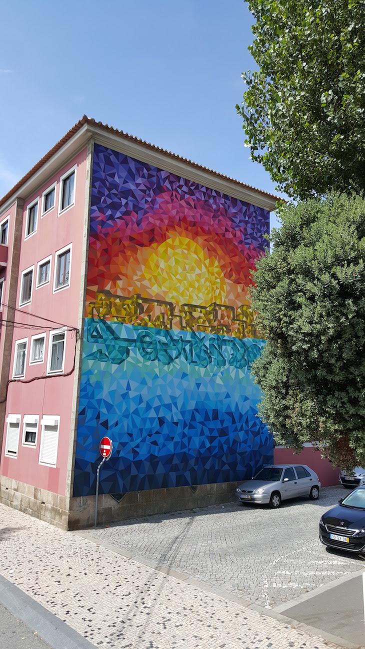 Obra de Pariz One - Rota de Street Art de Matosinhos © Viaje Comigo