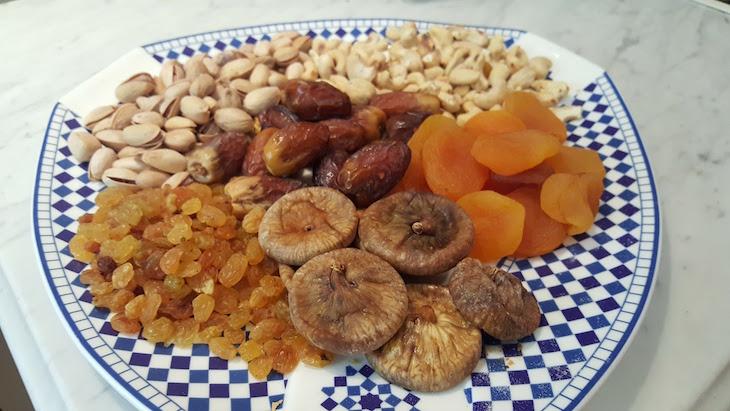 Frutos secos - Hôtel Les Mérinides - Fez - Marrocos © Viaje Comigo