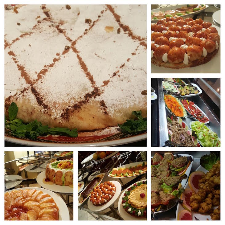 Jantar buffet do Hôtel Les Mérinides - Fez - Marrocos © Viaje Comigo
