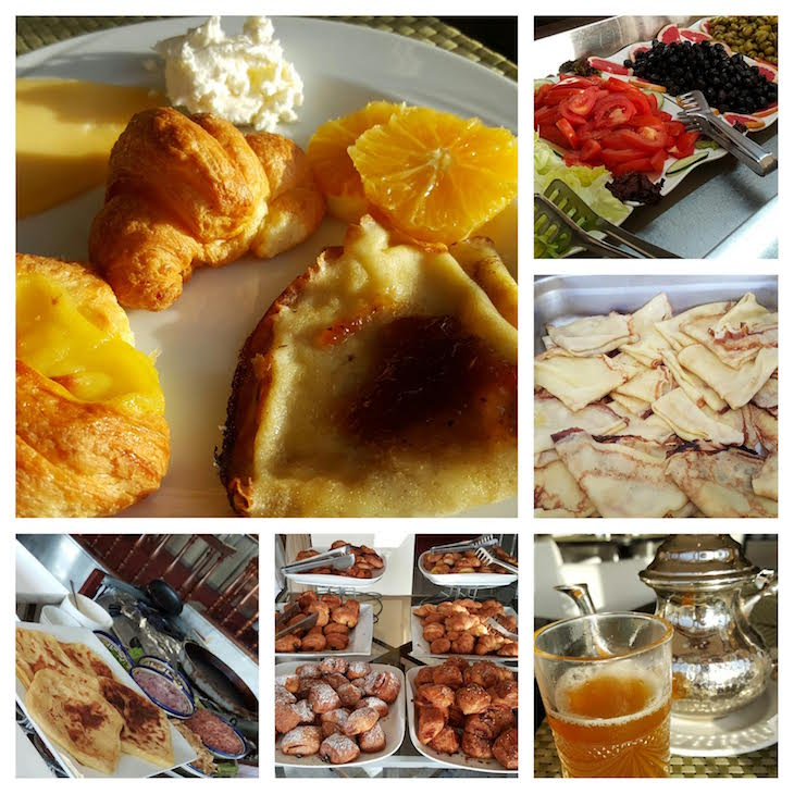 Pequeno-almoço do Hôtel Les Mérinides - Fez - Marrocos © Viaje Comigo