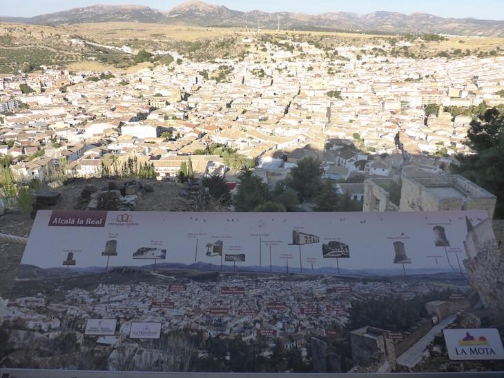 Vista da Fortaleza de la Mota para Alcalá la Real - Espanha © Viaje Comigo
