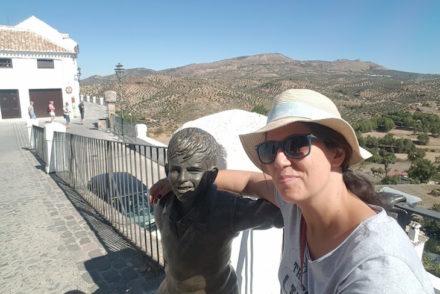 Eu e Estátua de Joselitto em Priego de Córdoba © Viaje Comigo