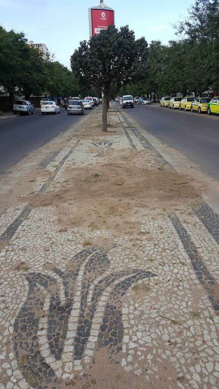 Calçada portuguesa - Maputo © Viaje Comigo