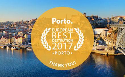 Porto eleito Melhor Destino Europeu 2017