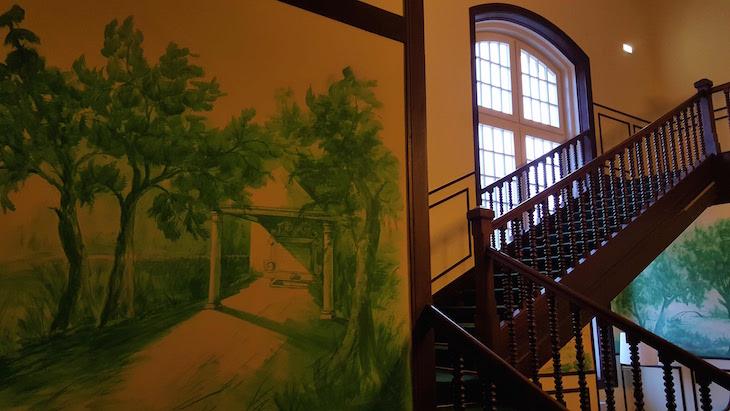 Pintura da fonte no Palácio Vista Alegre © Viaje Comigo