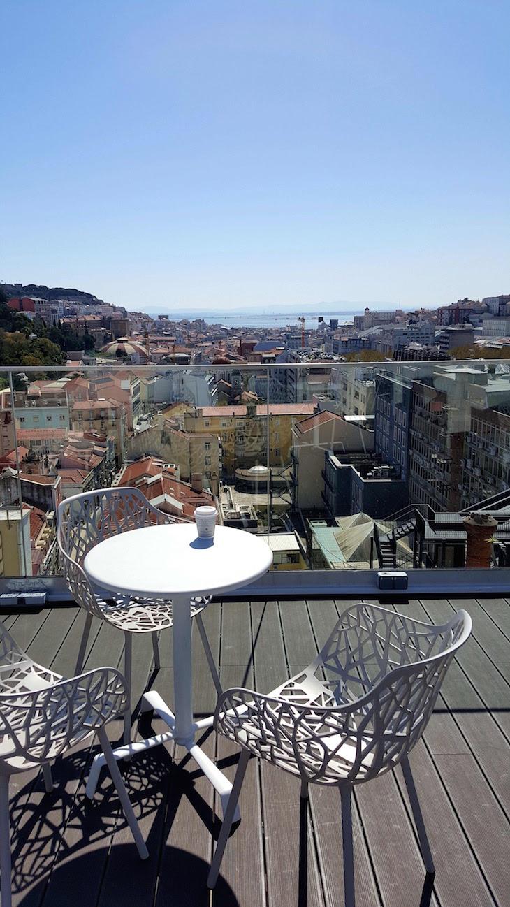 Vista do topo NH Collection Lisboa Liberdade Hotel © Viaje Comigo
