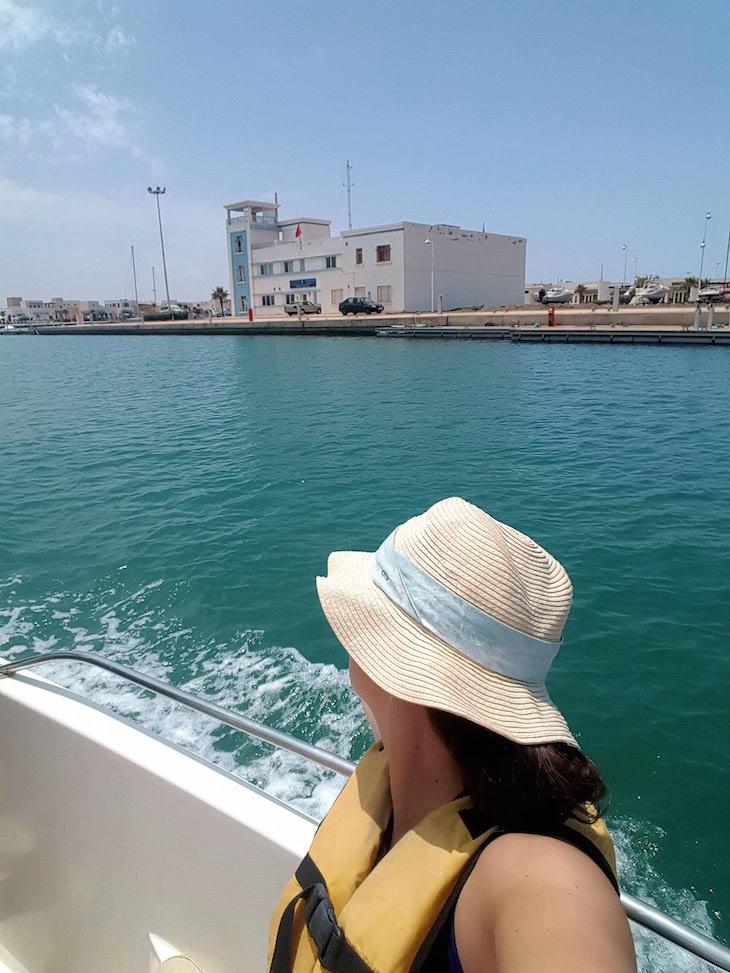 Passeio de barco em Saidia - Marrocos © Viaje Comigo