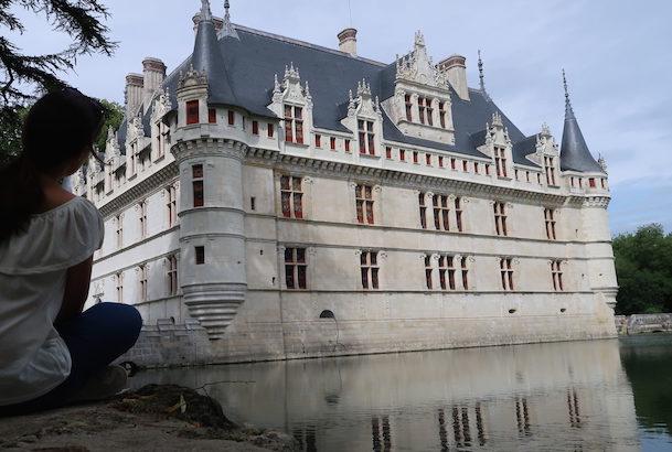 Foto tirada com temporizador da Canon PowerShot G7 X Mark II - Château Azay-le-Rideau - França @ Viaje Comigo